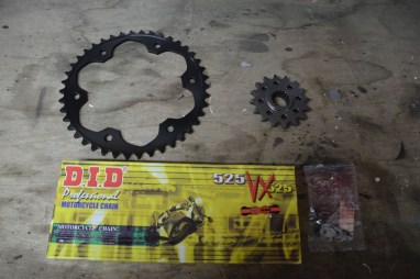 New chain and sprockets