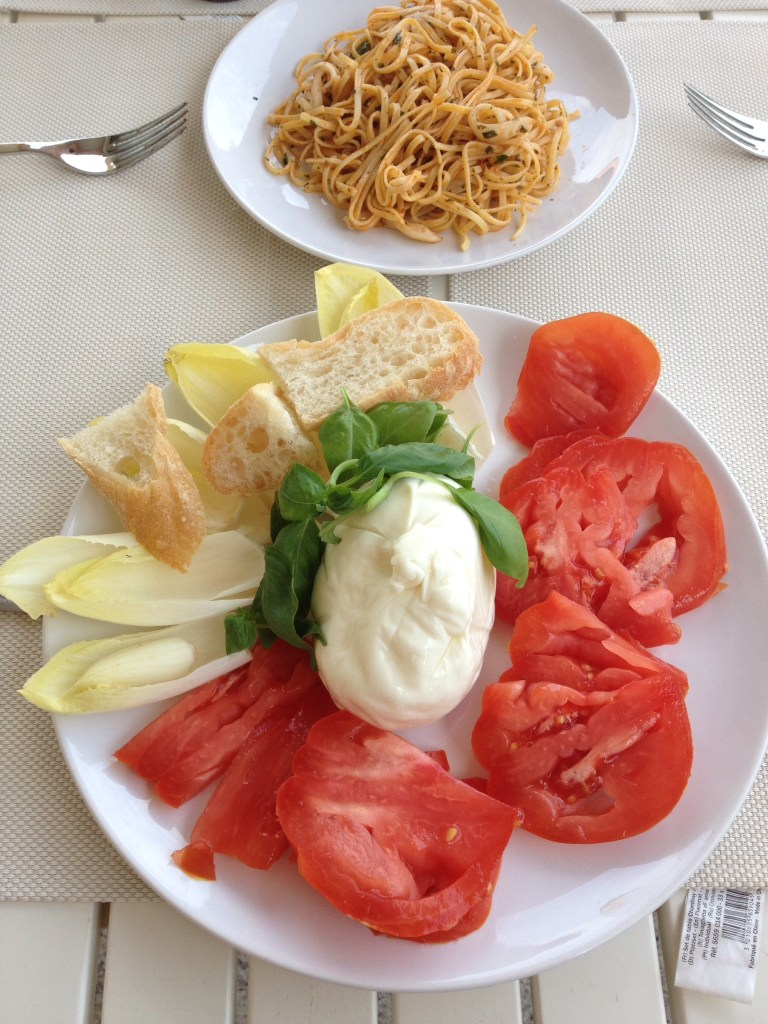 Burrata and Tomatoes in Italy