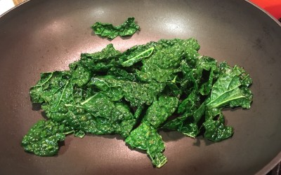 Kale Chips on the Stove Top