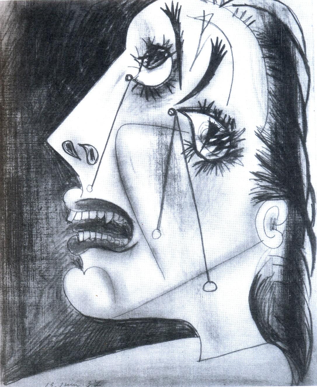 Cópia de mulher chorando - picasso