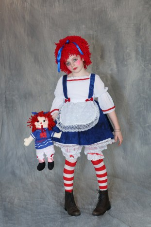Homemade Raggedy Ann Marches in Southampton Halloween Costume Parade