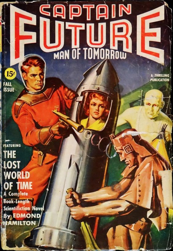 Captain Future Vol. 3, No. 2 (Fall, 1941). Cover Art by George Rozen