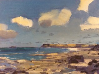 Windy Towards Polzeath, Selected for The Royal Society of Marine Painters Annual Exhibition 2015