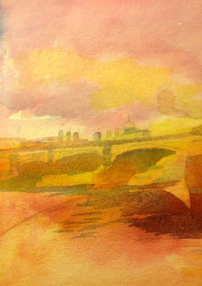 Watercolour, 12.5 x 17.8 cm