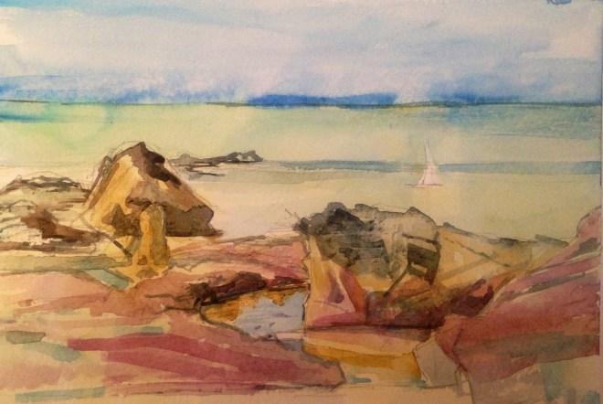 Watercolour,25.5 x17.8 cm