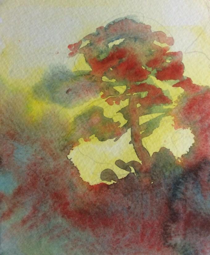 Watercolour 12.5 x 17.8 cm