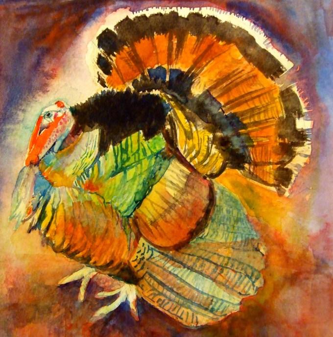 Watercolour, 15 x15cm