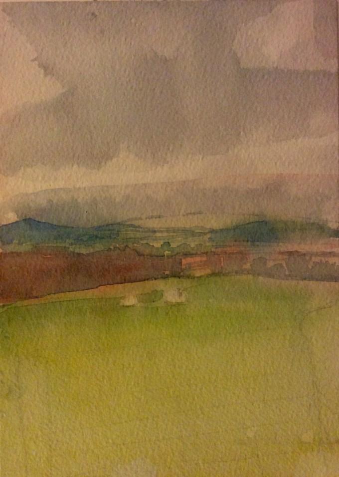 Watercolour, 22x12cm
