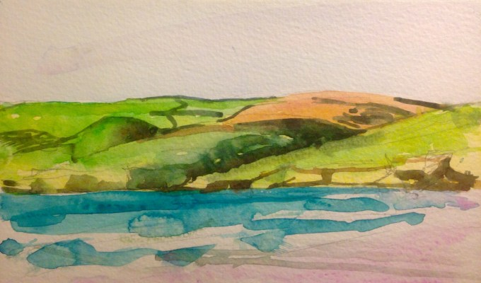 Over the Estuary, Daymer.