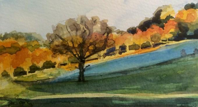 Watercolour, 6x11 cm