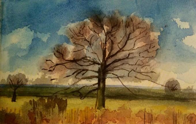 Watercolour,  11 x 6 cm