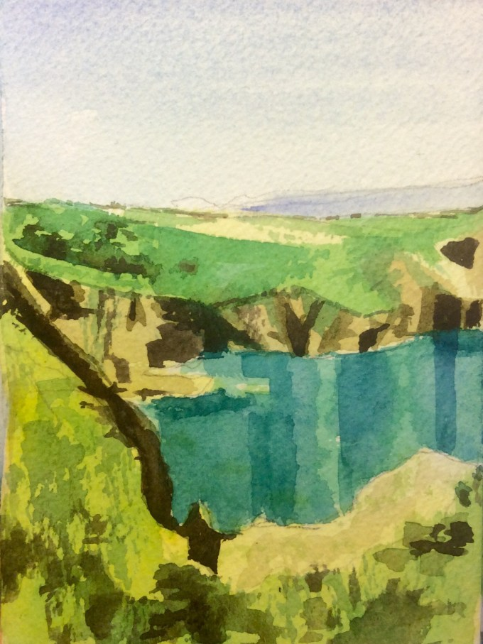 Devil's Hole, Watercolour,11 x 15 cm