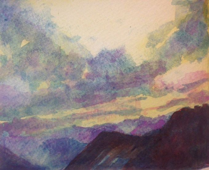 Alps, Watercolour, 15x11 cm