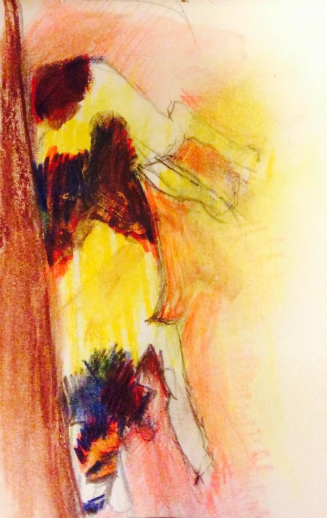 Watercolour, 11 x 5 cm
