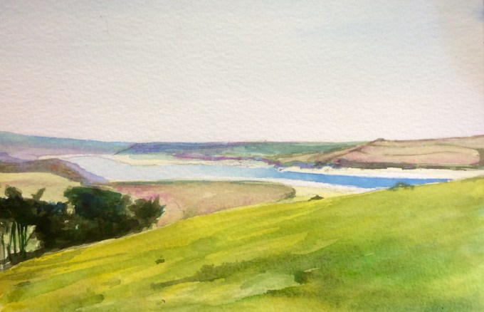 Padstow, From Brae Hill, Watercolour,