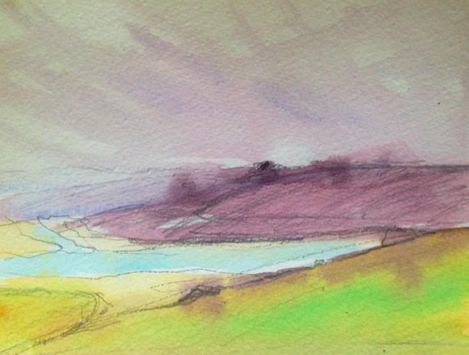 Padstow, watercolour, 18x 15 cm.