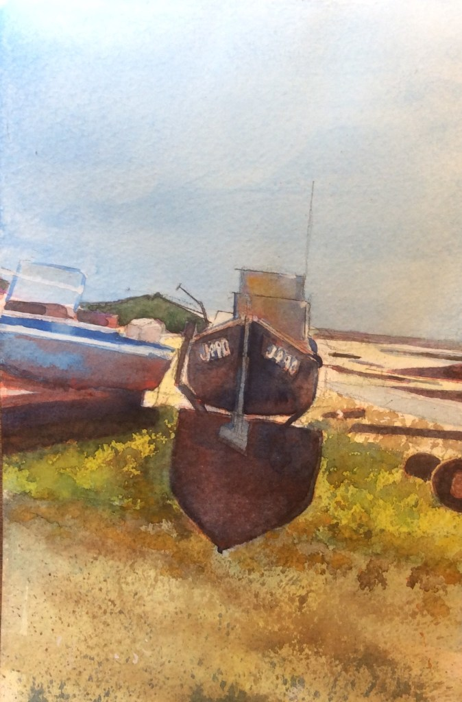 Boats at St Ouen Jersey II