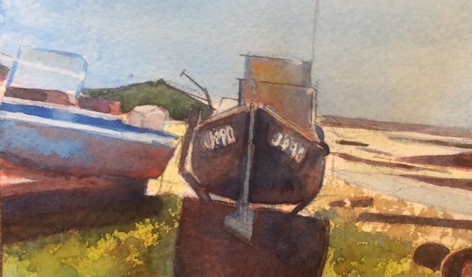 Boats at St Ouen, Jersey II