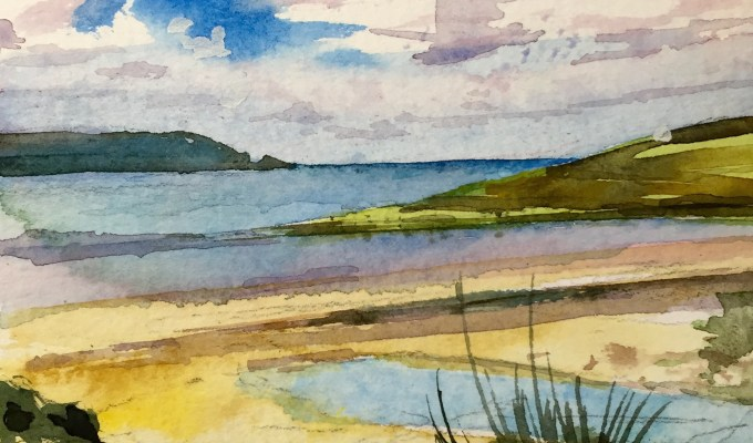 From the dunes, Daymer Bay, Cornwall