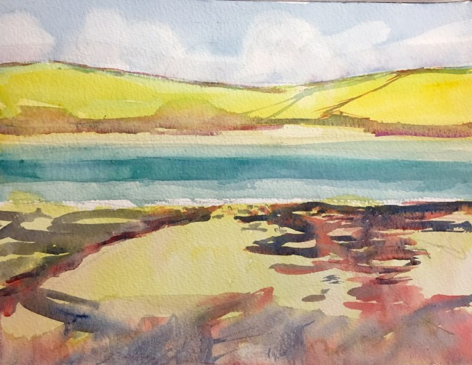 Daymer, watercolour, 22 x 15 cm