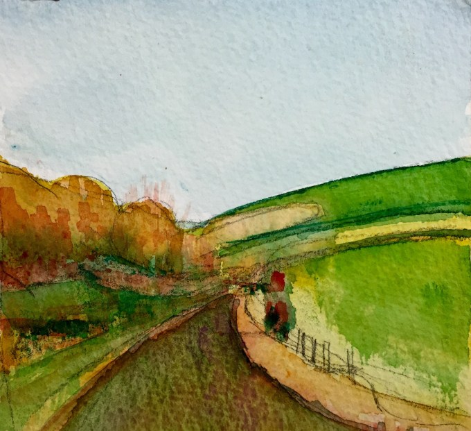 Maiden Bradley, Early Evening, 15 x11cm