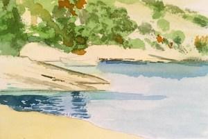 Paxos, Watercolour 6 x 12 cm