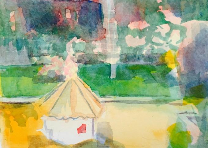 August, Watercolour, 12x 15cm