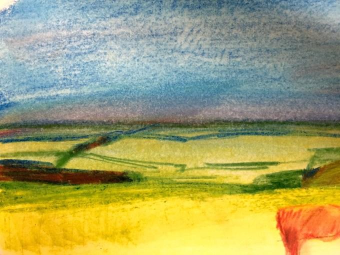 Win Green, Watercolour, 12 x5 cm