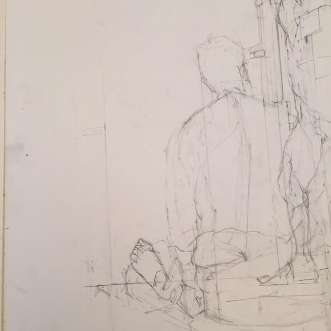 David, Graphite on Paper