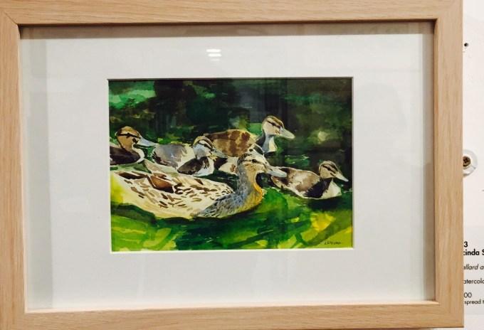 Mallard and Ducklings, Watercolour, 21 x 17 cm