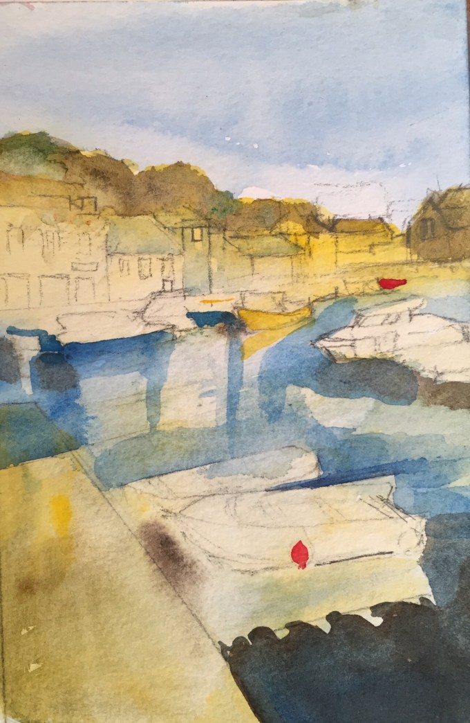 Harbour, Padstow, Watercolour, 15x 11cm