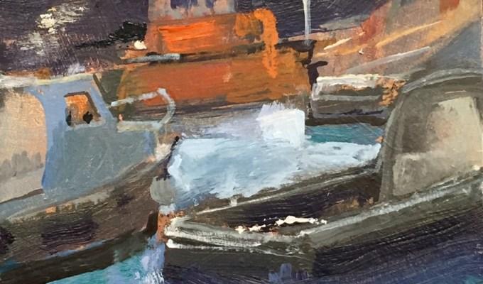 Light on Water, Oil sketch