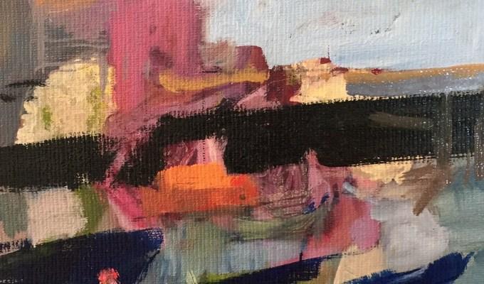 Light on Water, oil sketch II
