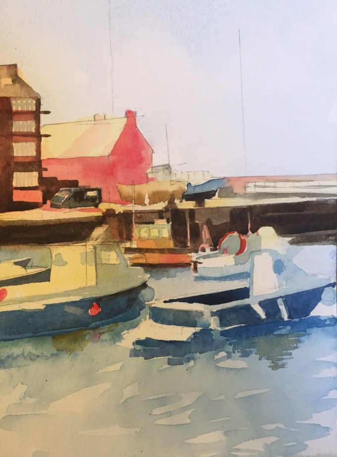 Boats III, watercolour,18x13cm