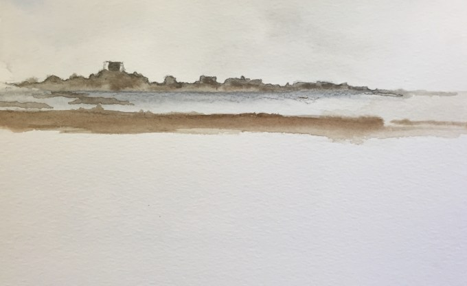 Pontac, Jersey, watercolour, 18x 12cm