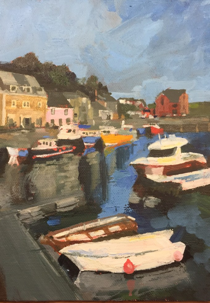 Padstow, Cornwall, Oil on Board, 18x 12 cm