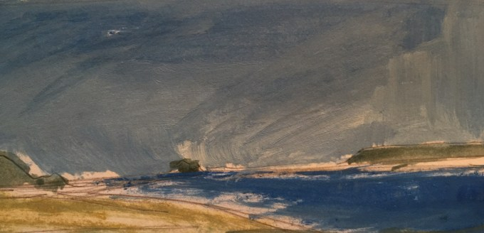 Out of the Estuary, oil sketch on paper