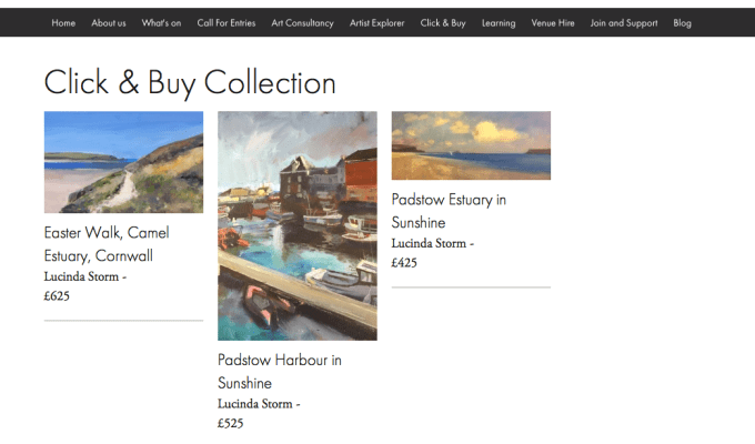 Mall Galleries Click and Buy Collection: Paintings by Lucinda Storm now available.