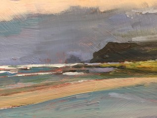 Winner of the Winsor and Newton Oil Prize, RSMA, Mall Galleries, 2018 Storm Ahead, Polzeath, Cornwall SOLD