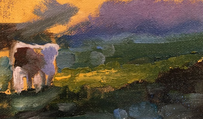 Colour Study: Bovine Evening