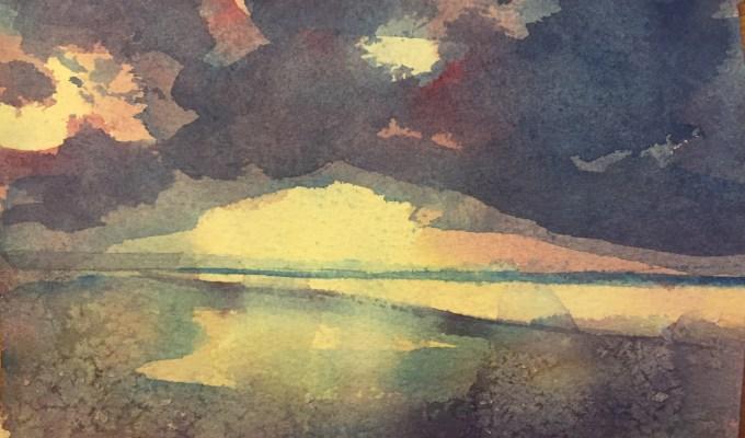Winter Sunset, Saunton Sands
