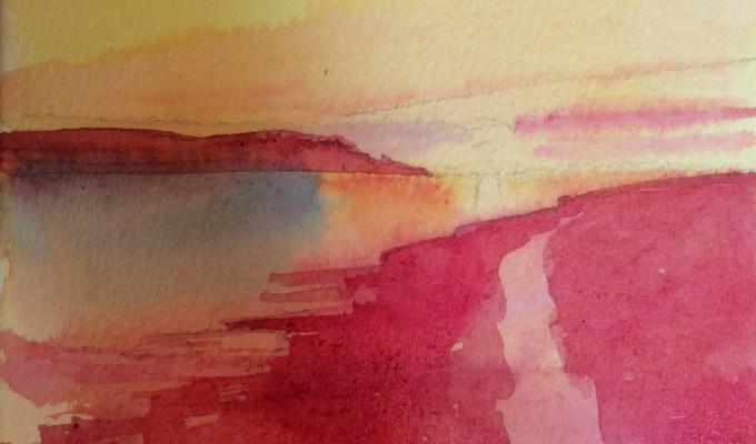 Sunset over Doom Bar, Daymer Bay.
