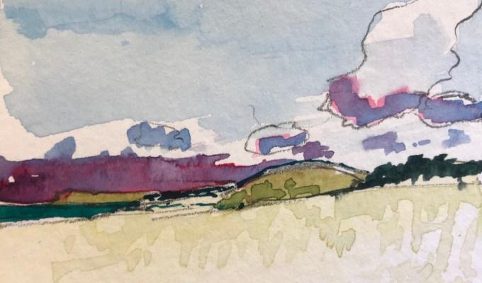 Across the dunes, Camel Estuary, Cornwall.