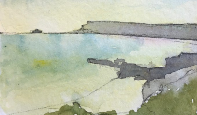 Pentire View, from Gully, Polzeath, Cornwall