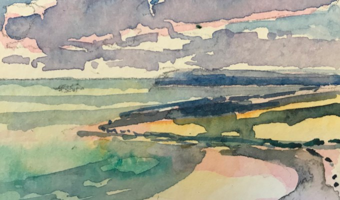Daymer, watercolour sketch