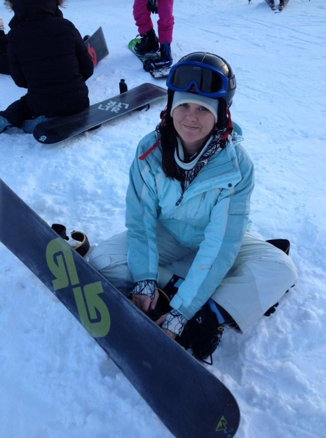 my last time snowboarding