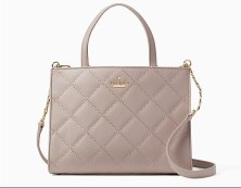 gray quilted