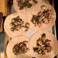 chicken mix in tortillas