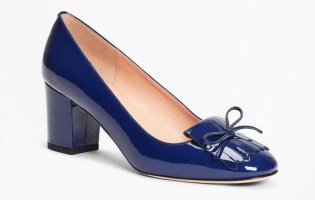 Brooks Brothers patent heeled loafer