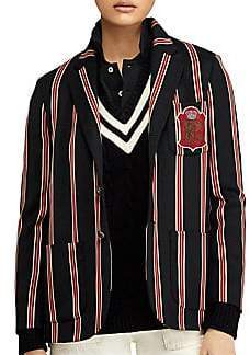 Ralph Lauren black striped crest blazer